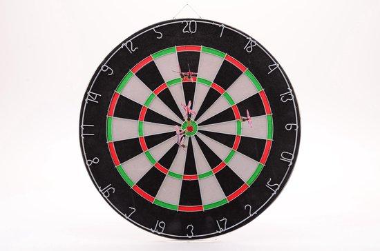 Waar is een dartbord van gemaakt